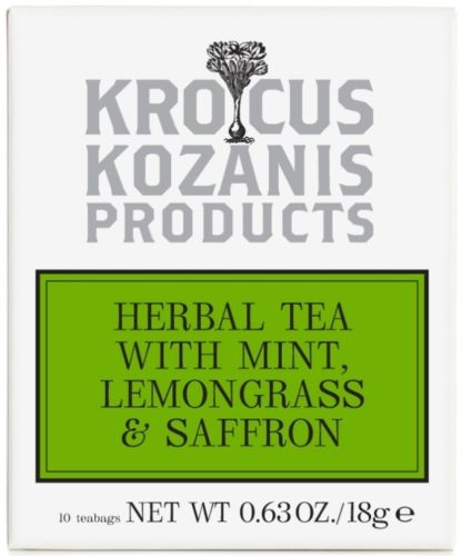 Krocus Kozani Herbal Tea with Mint Lemongrass & Saffron